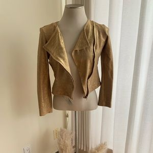 Hardly Worn Cotton Gold Shimmer Jacket